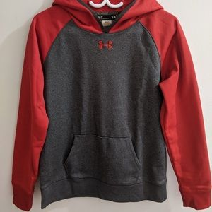 UNDER ARMOUR red/carbon hoodie
